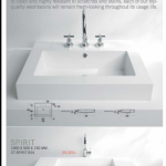 WASH BASIN Durable throughout its life. Made of Crisol, a special solid material. 0