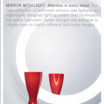 MIRROR WITH LIGHT new collection designed lighting system 0