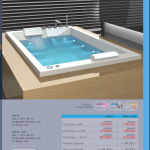 Arena 200x120x48cm 6 WP 24 AP // Arena1500 size 200x150x48cm 6 WP 24 AP // อ่างน้ำวนระบบ WAF / S-SPA / I-SPA 4 / Waterfall Optional / Neck Jet Optional  0